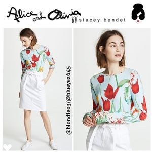 "Alice & Olivia ""Delania"" Crop Top M"